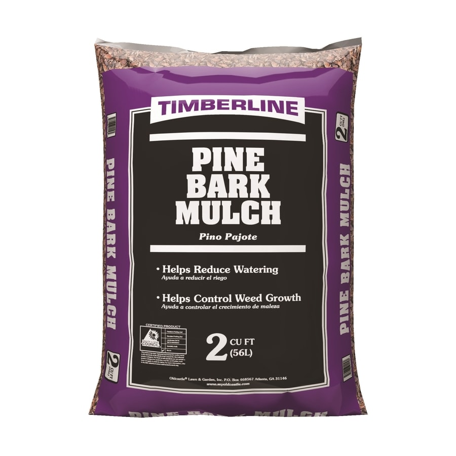 Timberline 2-cu ft Dark Brown Pine Mulch