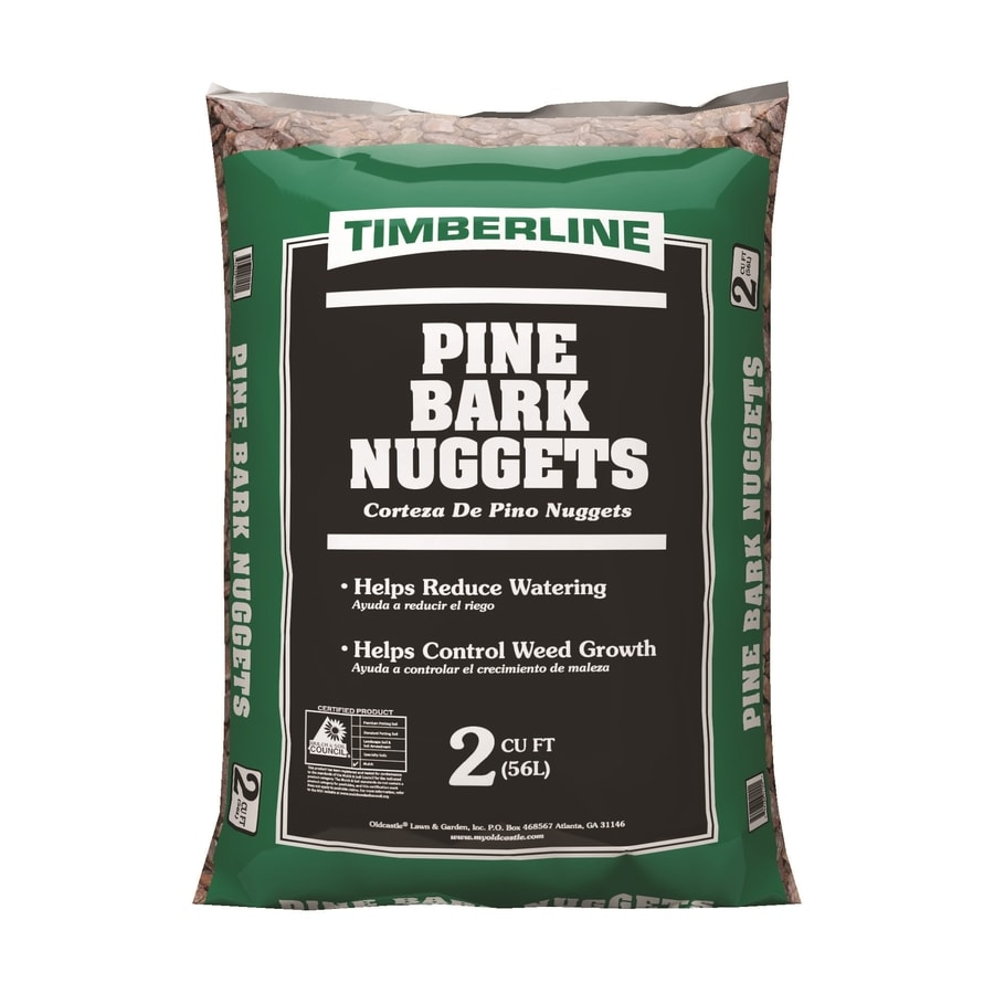 Shop Timberline 2 Cu Ft Brown Pine Bark Nuggets At Lowes Com