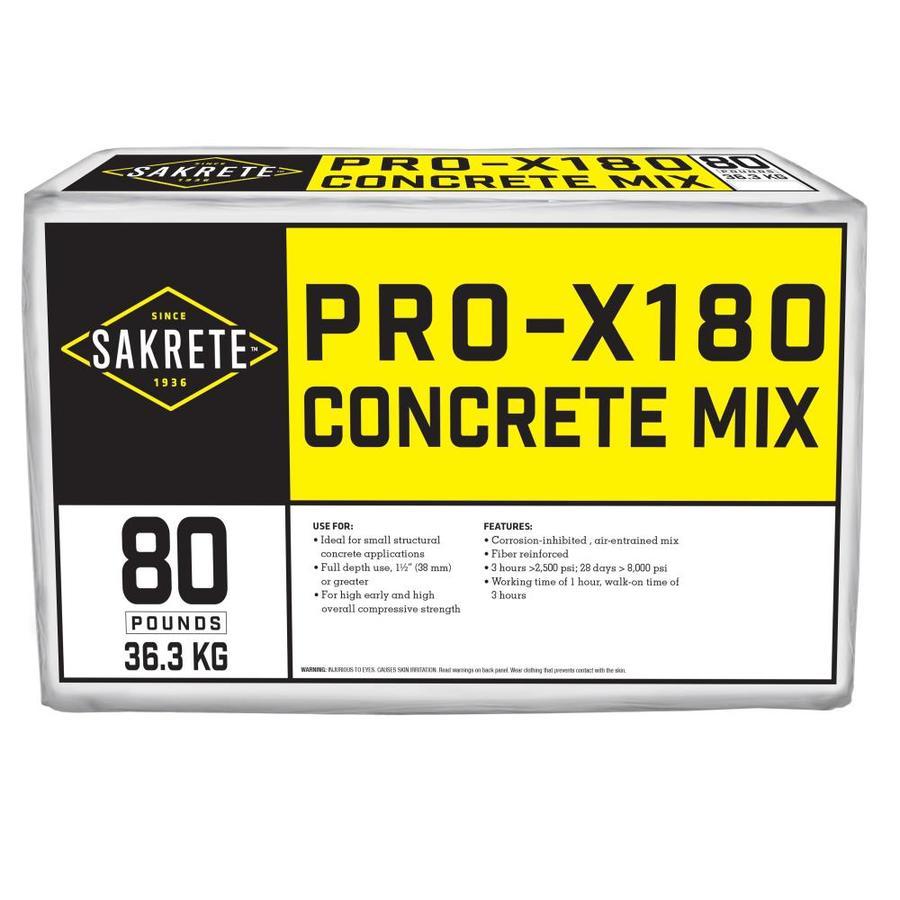 Sakrete Pro X180 80-lb Gray Concrete Mix
