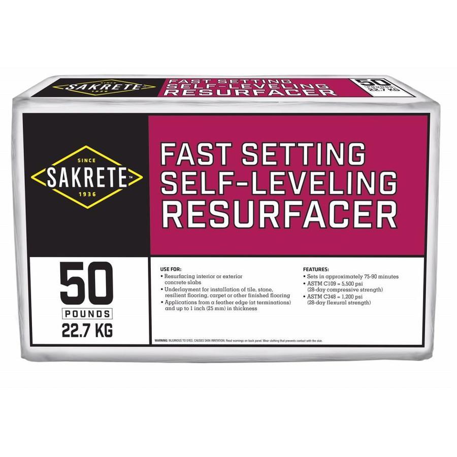 Sakrete Fastset Self Leveling Resurfacer 50 Lb Fast Setting