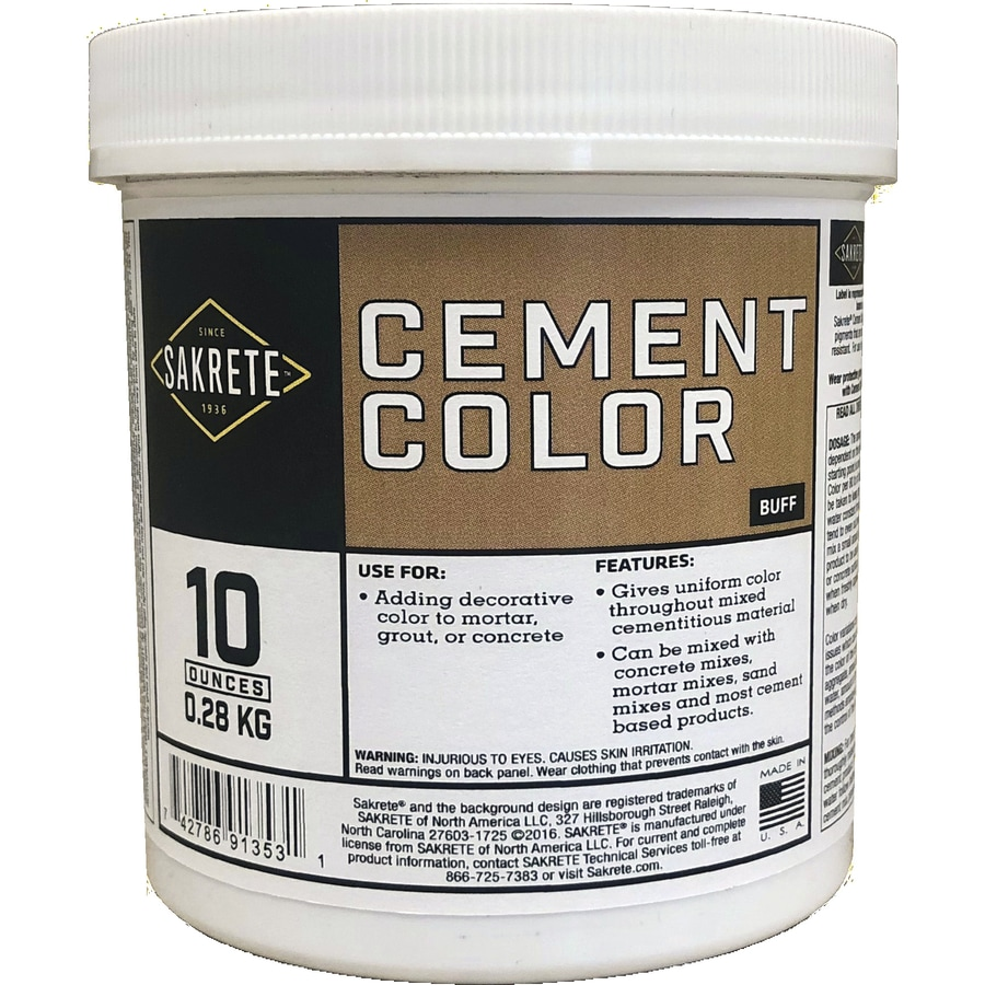 Sakrete Buff Cement Color Mix At Lowes Com