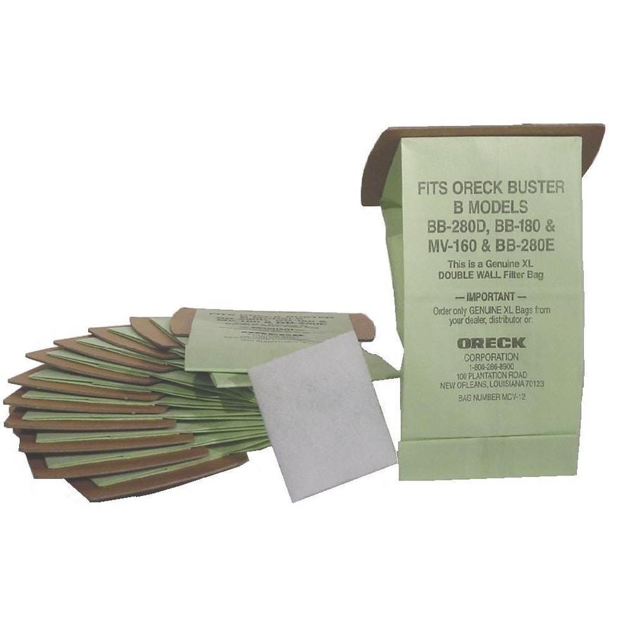 Oreck 12-Pack 1.5 Liters Disposable Paper Vacuum Bag