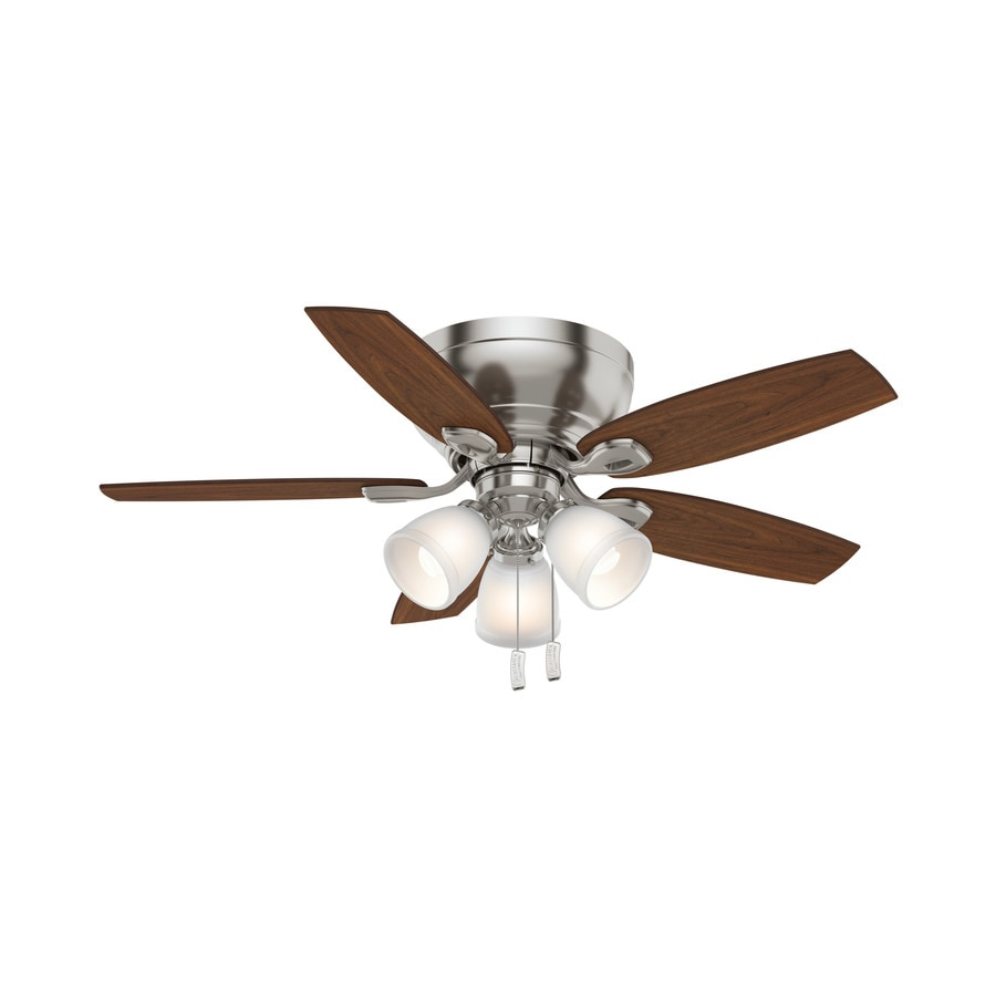 Casablanca Durant 44-in Brushed Nickel Flush Mount Indoor Ceiling Fan with Light Kit