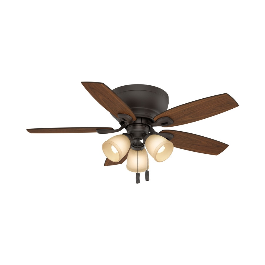 Casablanca Durant 44-in Maiden Bronze Indoor Flush Mount Ceiling Fan with Light Kit