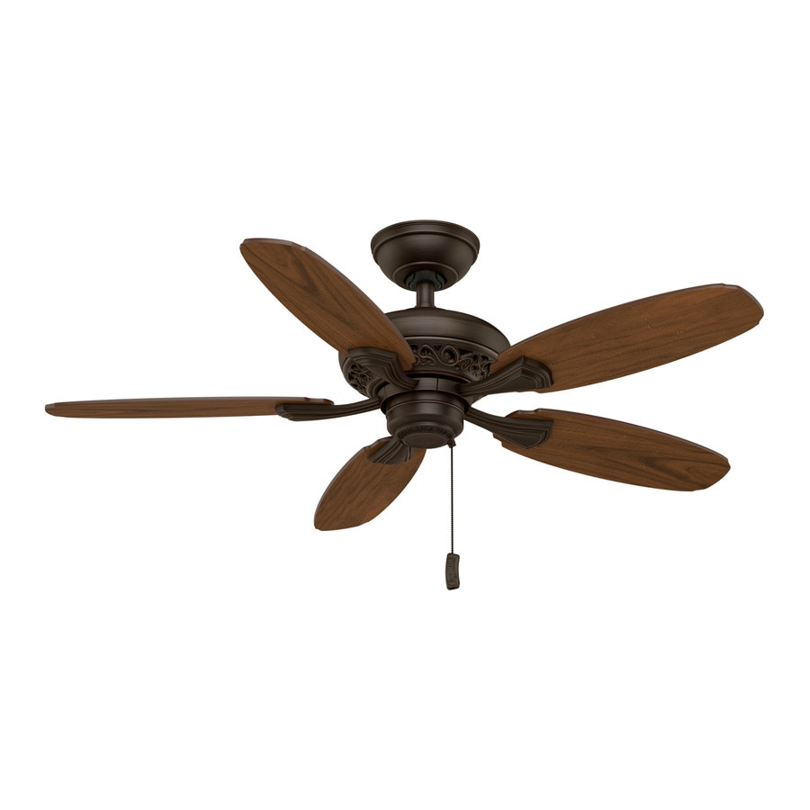 Casablanca Fordham 44-in Brushed Cocoa Downrod or Close Mount Indoor Ceiling Fan