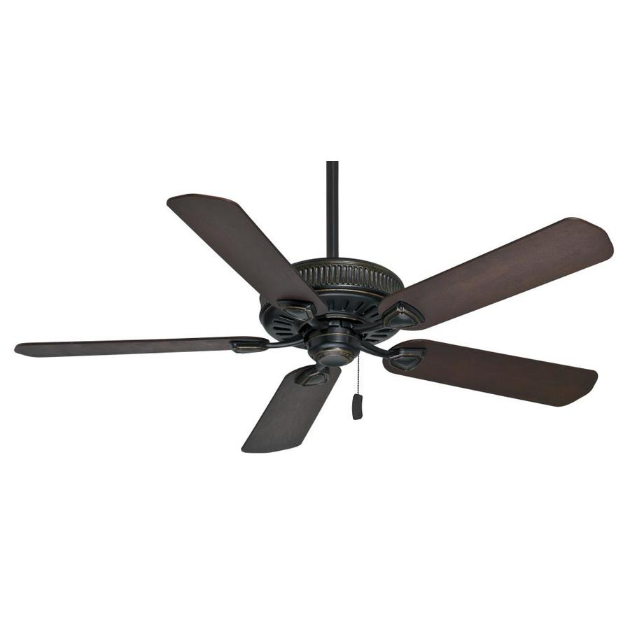 Casablanca Ainsworth 54-in Basque Black Downrod or Close Mount Indoor Ceiling Fan ENERGY STAR