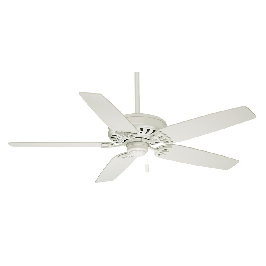 Casablanca Concentra 54-in Snow White Downrod or Close Mount Indoor Residential Ceiling Fan ENERGY STAR