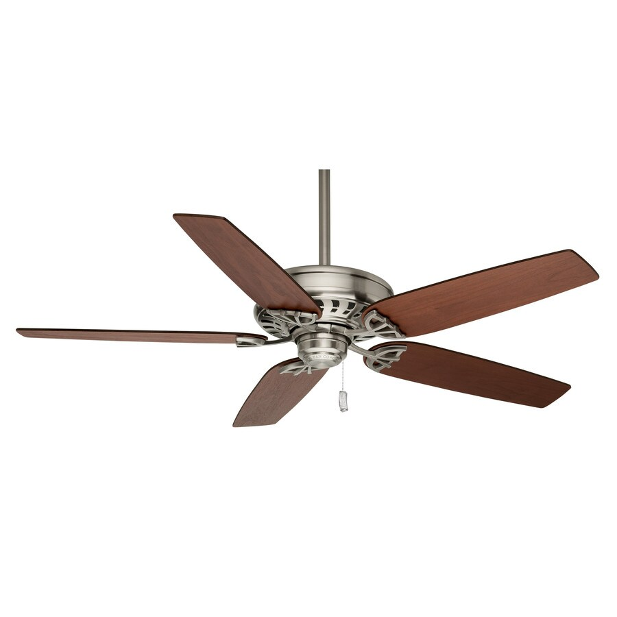 Casablanca Concentra 54-in Brushed Nickel Downrod or Close Mount Indoor Ceiling Fan ENERGY STAR