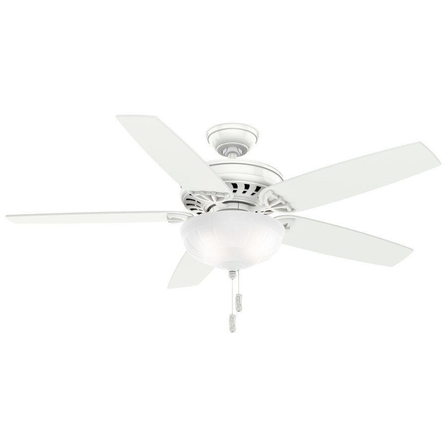 Casablanca 54-in Snow White Indoor Downrod Or Close Mount Ceiling Fan with Light Kit