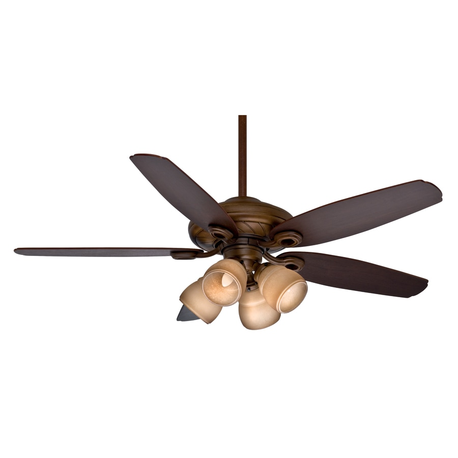 Casablanca Capistrano Gallery 54-in Acadia Downrod or Close Mount Indoor Residential Ceiling Fan with Light Kit and Remote