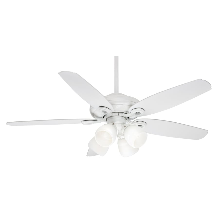 Casablanca Capistrano Gallery 54-in Snow White Downrod or Close Mount Indoor Ceiling Fan with Light Kit and Remote