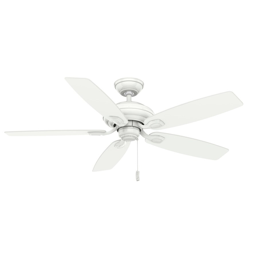 Casablanca Utopian 52-in Snow White Downrod or Close Mount Indoor/Outdoor Ceiling Fan ENERGY STAR
