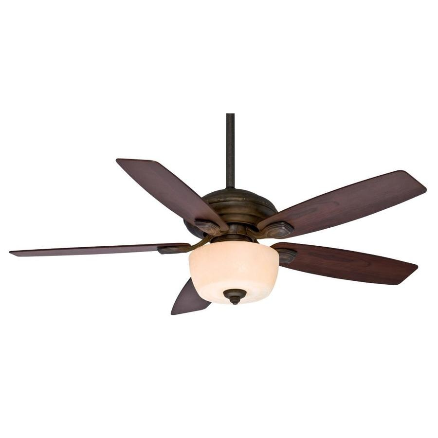 Casablanca Utopian Gallery 52-in Aged Bronze Downrod or Close Mount Indoor/Outdoor Residential Ceiling Fan with Light Kit and Remote
