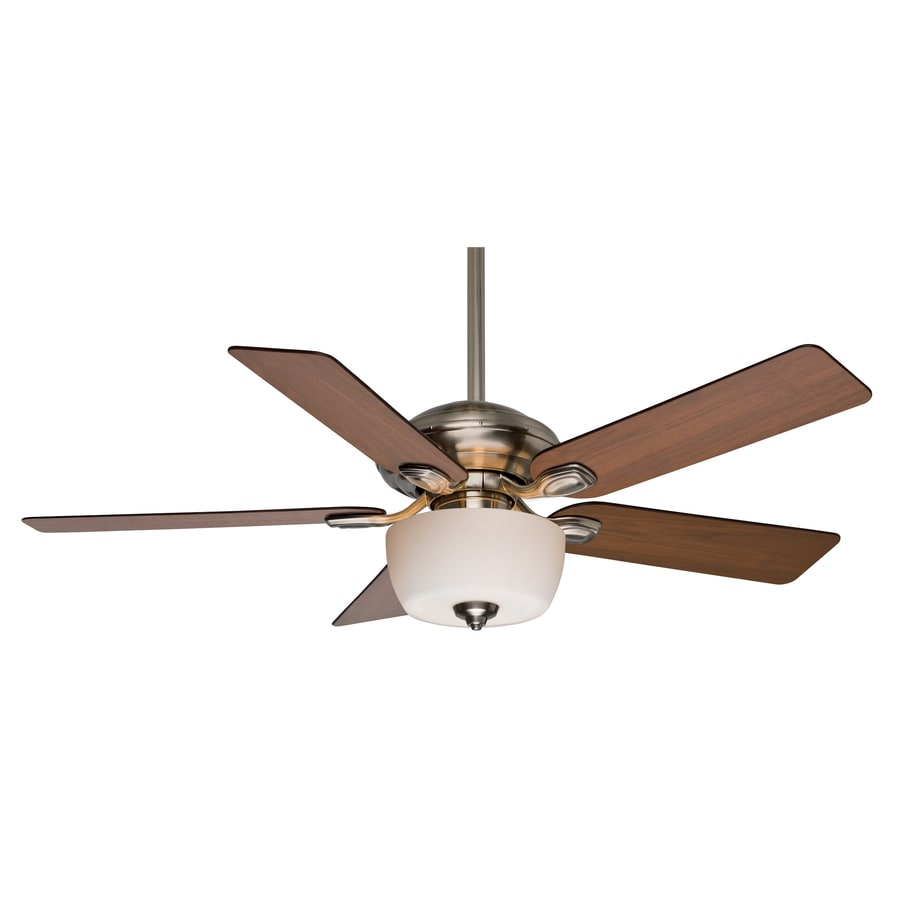 Casablanca Utopian Gallery 52-in Brushed Nickel Downrod or Close Mount Indoor Ceiling Fan with Light Kit and Remote