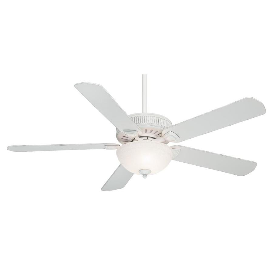Casablanca Ainsworth Gallery 60-in Cottage White Downrod or Close Mount Indoor Residential Ceiling Fan with Light Kit