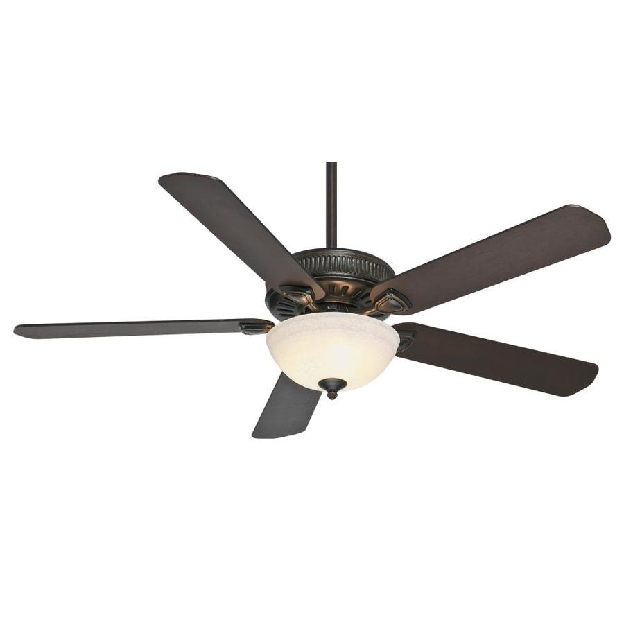 Casablanca 60-in Basque Black Downrod or Close Mount Indoor Residential Ceiling Fan with Light Kit