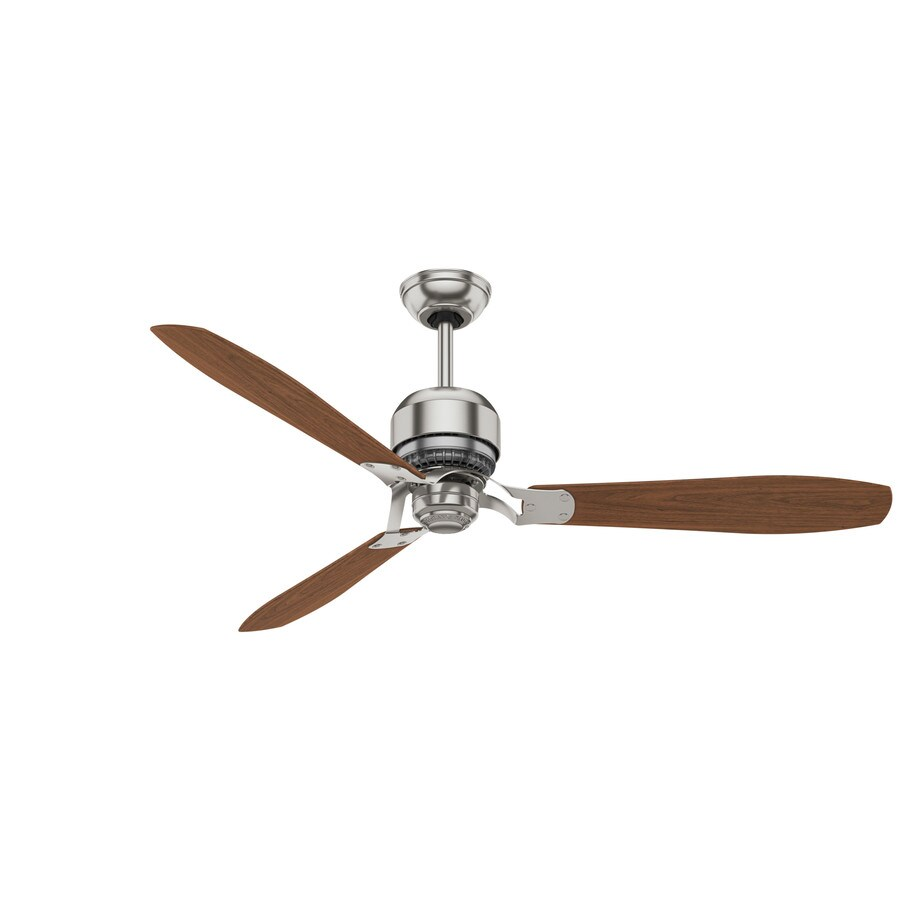Casablanca Tribeca 60-in Brushed Nickel Downrod Mount Indoor Ceiling Fan with Remote (3-Blade) ENERGY STAR