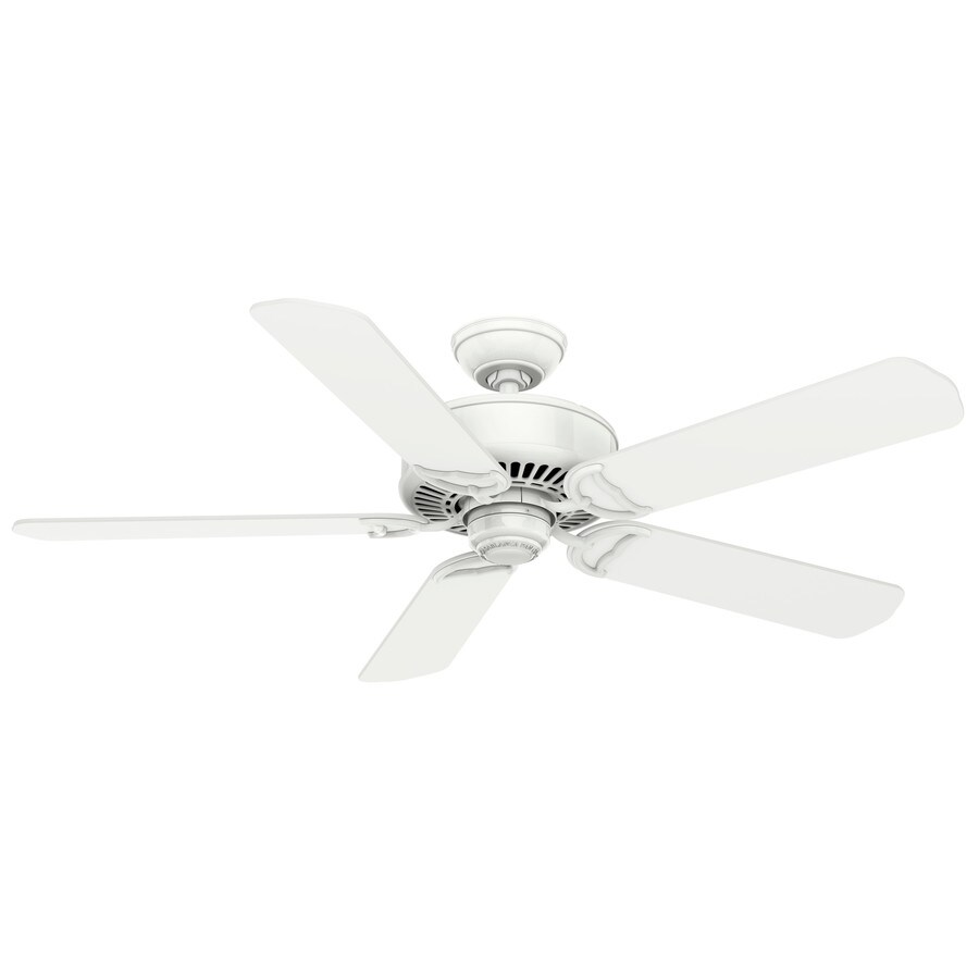 Casablanca Panama Dc 54-in Snow White Downrod or Close Mount Indoor Ceiling Fan with Remote ENERGY STAR