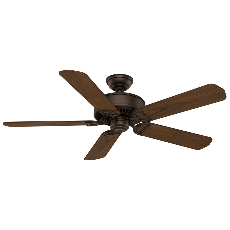 Casablanca Panama DC 54-in Brushed Cocoa Indoor Downrod Or Close Mount Ceiling Fan and Remote ENERGY STAR