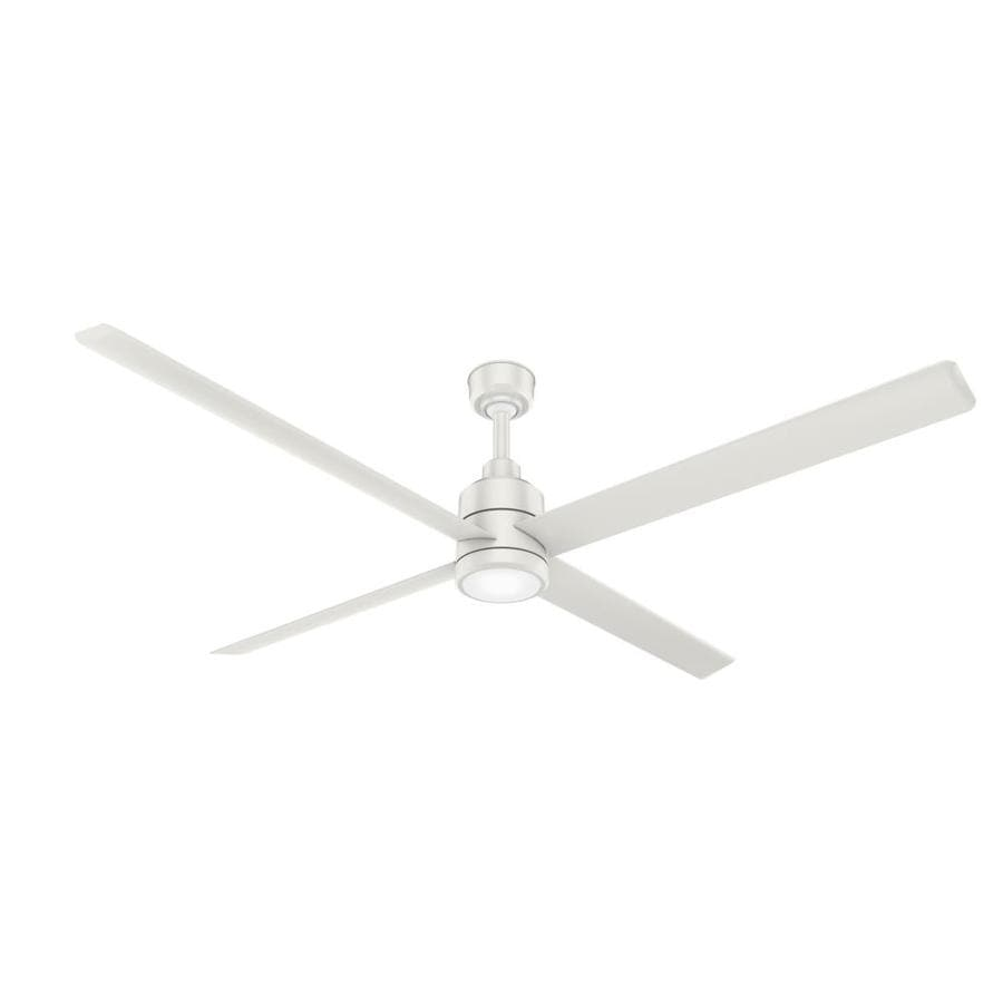 Casablanca Wailea 31-in Snow White Downrod or Close Mount Indoor/Outdoor Ceiling Fan