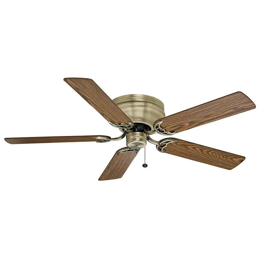 Casablanca 52-in Four Seasons III Hugger Antique Brass Ceiling Fan