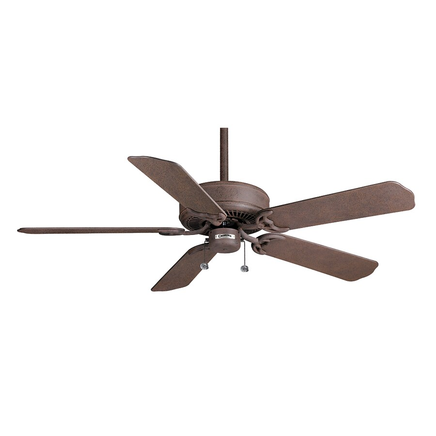 Casablanca 52-in Four Seasons III Outsider Rustic Iron Outdoor Ceiling Fan ENERGY STAR