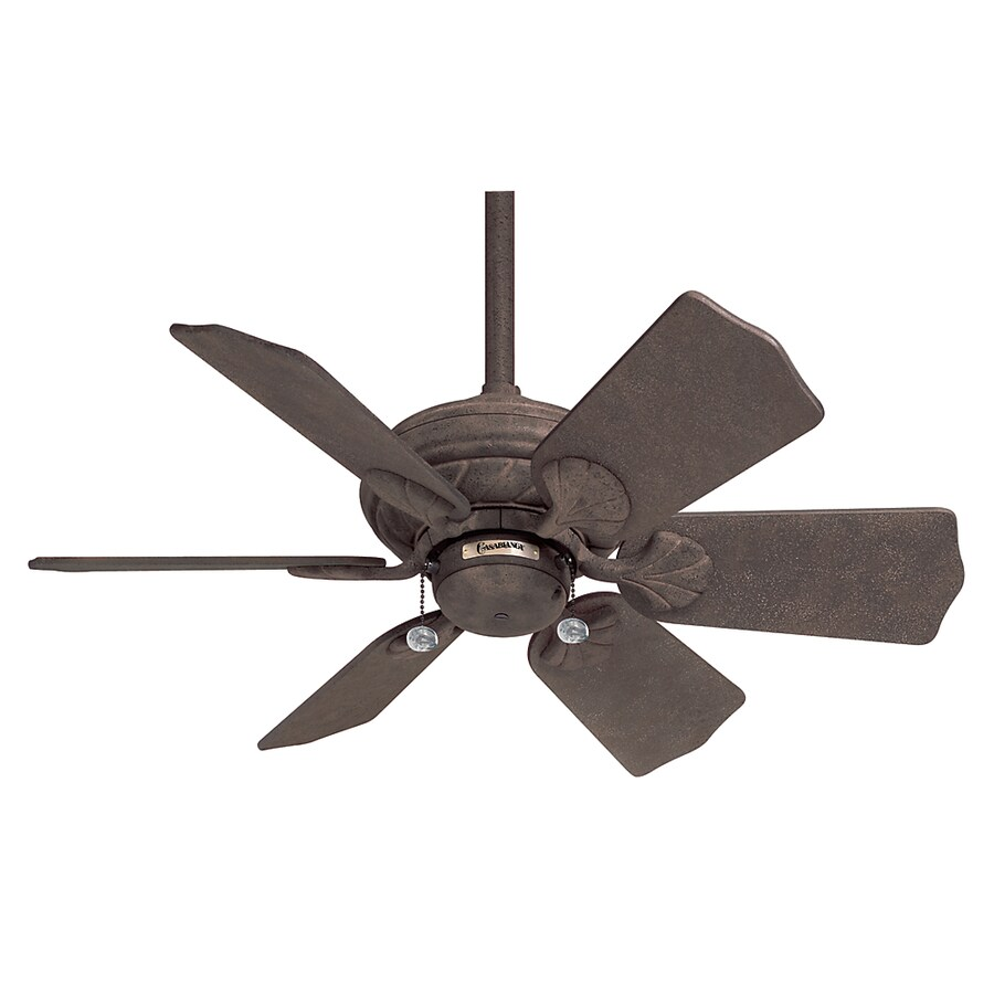 Casablanca 31-in Wailea Rustic Iron Outdoor Ceiling Fan
