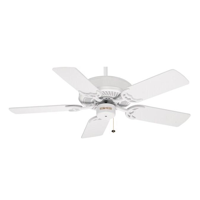 Casablanca 42 In Four Seasons Iii Snow White Ceiling Fan Energy Star In The Ceiling Fans Department At Lowes Com