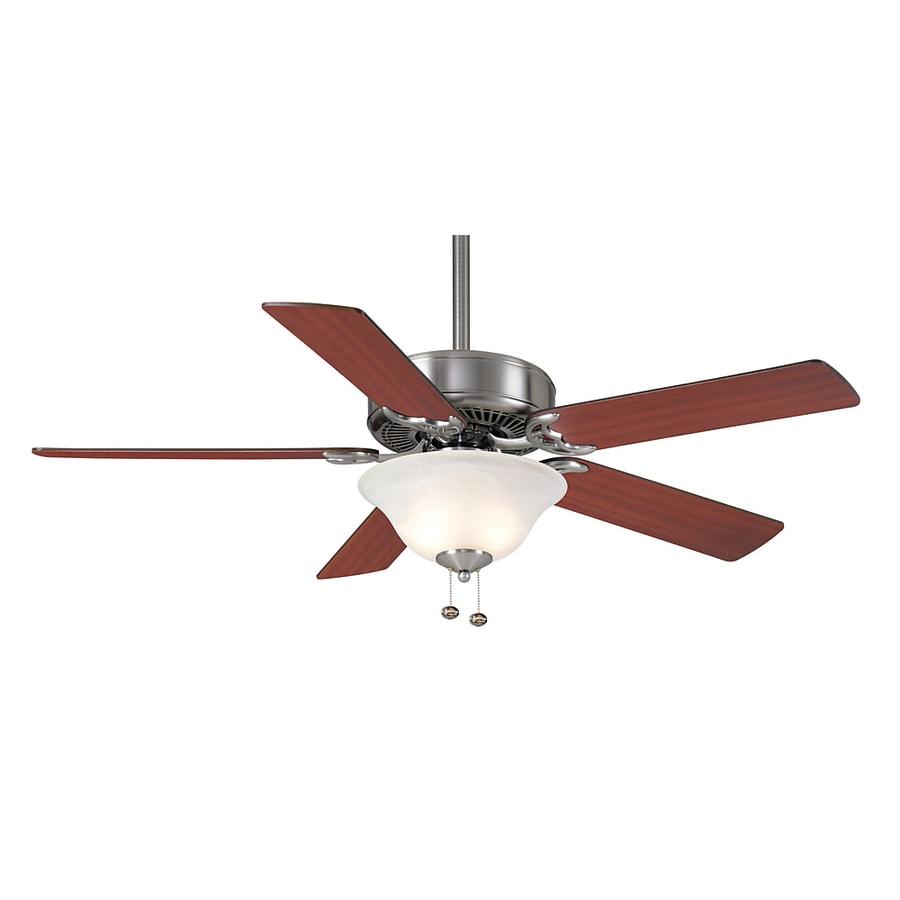 Casablanca 52-in Four Seasons III Gallery Brushed Nickel Ceiling Fan with Light Kit