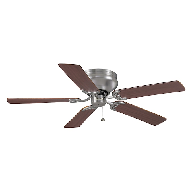 Casablanca 52 In Four Seasons Iii Hugger Brushed Nickel Ceiling Fan In The Ceiling Fans Department At Lowes Com