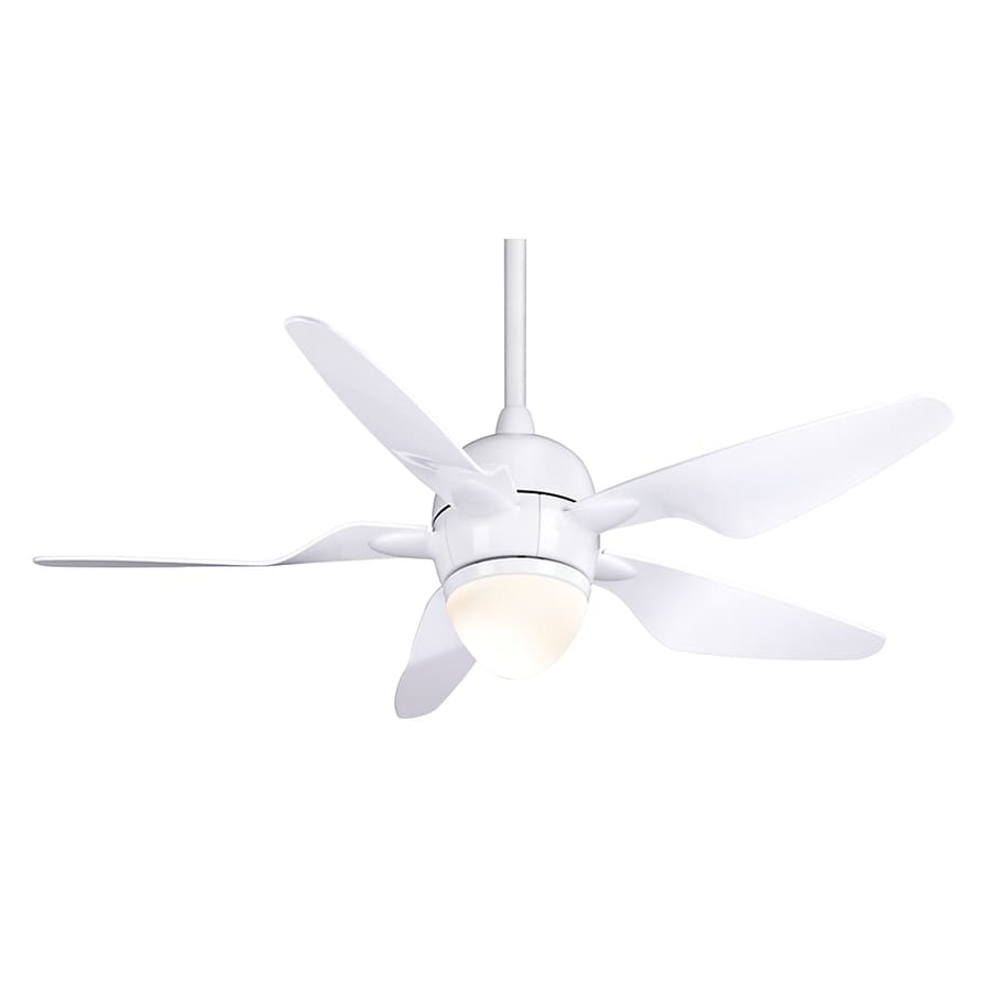 Casablanca 47-in Mode II Snow White Ceiling Fan with Light Kit and Remote