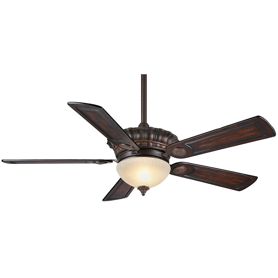 Casablanca 54-in Alessandria Brushed Cocoa Ceiling Fan with Light Kit and Remote