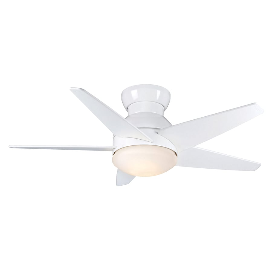 Casablanca 44-in Isotope Snow White Ceiling Fan with Light Kit