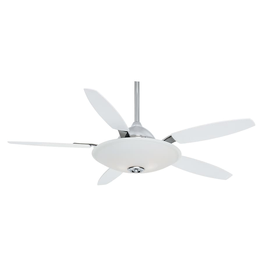 Casablanca Antion 52-in Chrome Downrod Mount Ceiling Fan with Light Kit and Remote (5-Blade)