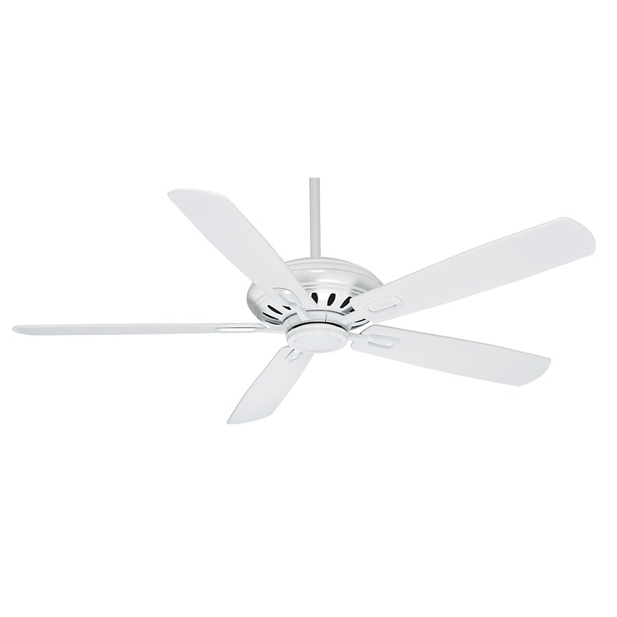 Casablanca Holliston DC 60-in Snow White Downrod Mount Ceiling Fan with Remote ENERGY STAR