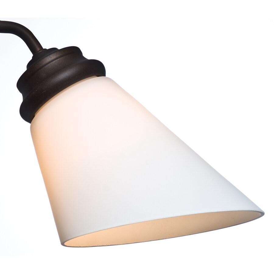Casablanca 4.625-in H 4.625-in W Cased White Cone Ceiling Fan Light Shade