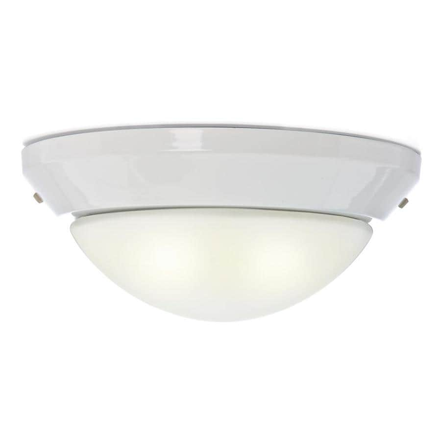 Casablanca 2-Light Snow White Incandescent Ceiling Fan Light Kit with Frosted Glass