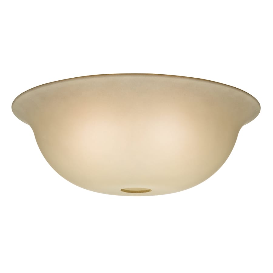 Casablanca 4.375-in H 12.75-in W Tea Stain Tinted Glass Bowl Ceiling Fan Light Shade