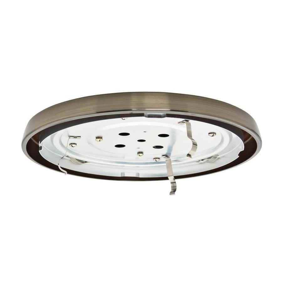 Casablanca Low Profile 1-Light Antique Brass Fluorescent Ceiling Fan Light Kit