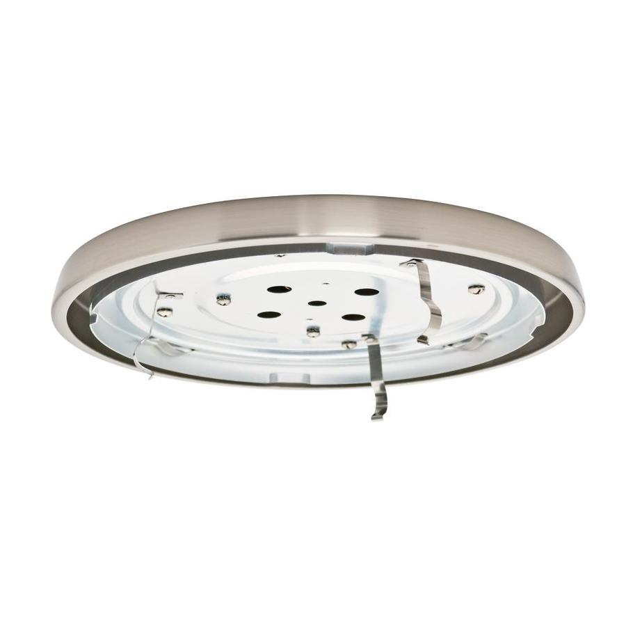 Casablanca Low Profile 1-Light Brushed Nickel Fluorescent Ceiling Fan Light Kit with Glass or Shade