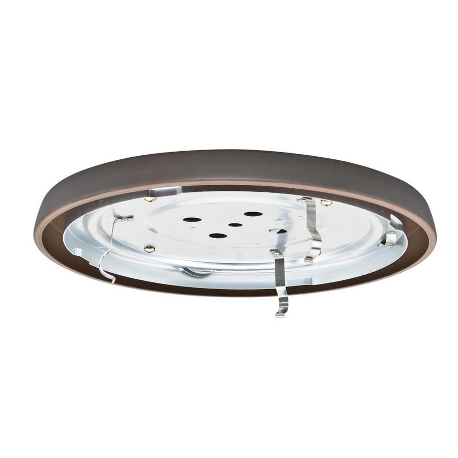 Casablanca Low Profile 1-Light Brushed Cocoa Fluorescent Ceiling Fan Light Kit