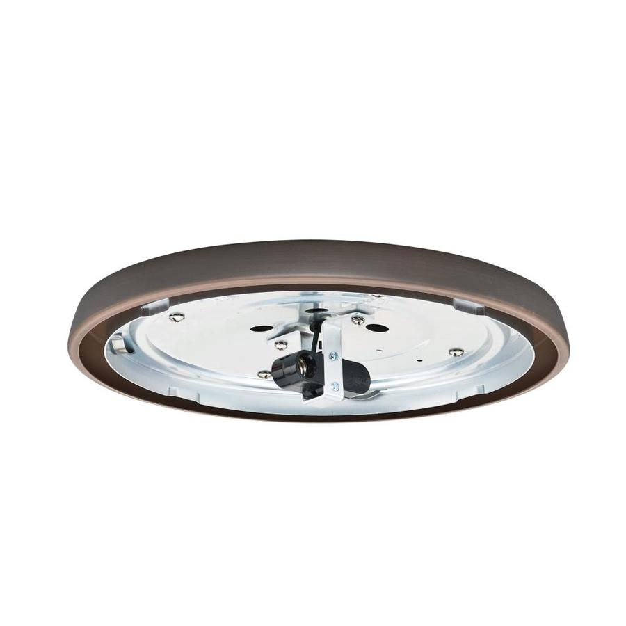 Casablanca Low Profile 2-Light Brushed Cocoa Incandescent Ceiling Fan Light Kit with Glass or Shade