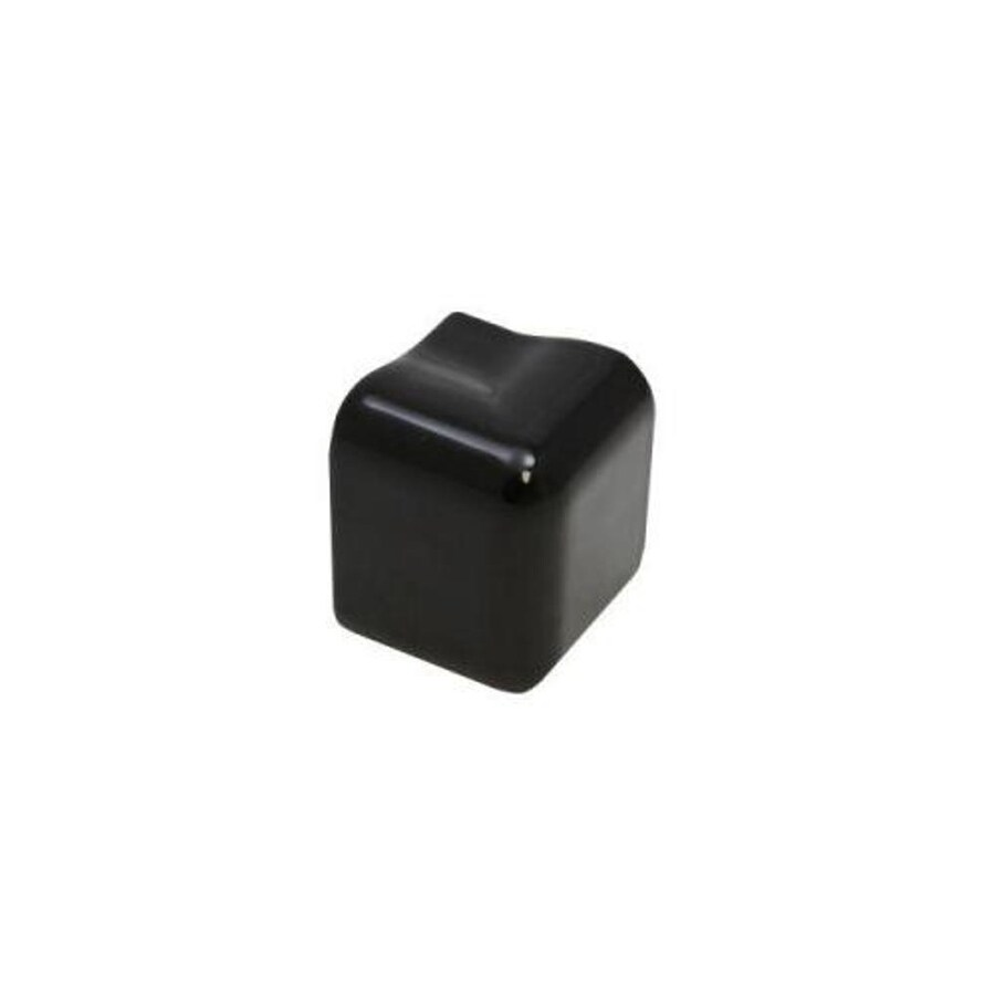 American Olean Bright Gloss Black Ceramic Mud Cap Corner Tile (Common: 2-in x 2-in; Actual: 2-in x 2-in)