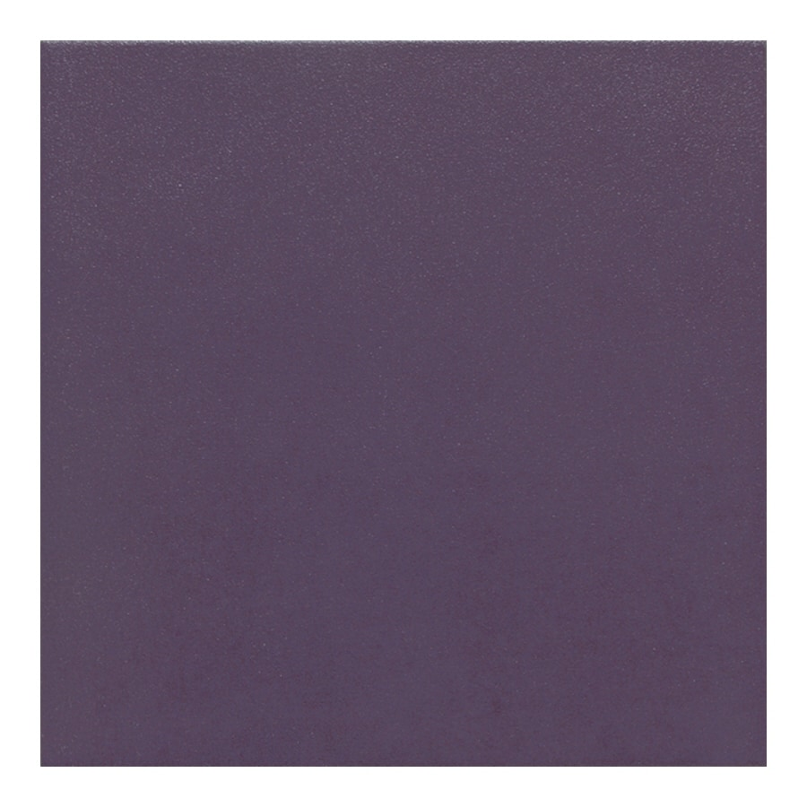 American Olean 15-Pack Urban Tones Eggplant Solid Glazed Porcelain Floor Tile (Common: 12-in x 12-in; Actual: 11.81-in x 11.81-in)