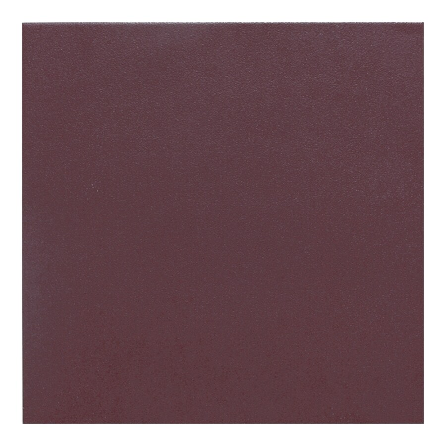 American Olean 44-Pack Urban Tones Burgundy Solid Glazed Porcelain Floor Tile (Common: 6-in x 6-in; Actual: 5.81-in x 5.81-in)