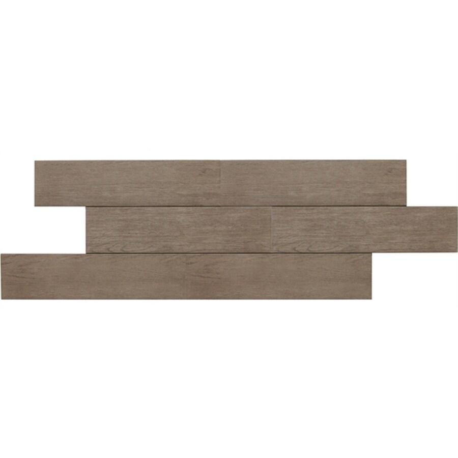 American Olean 12-Pack Terreno Smokewood Thru Body Porcelain Floor Tile (Common: 6-in x 24-in; Actual: 5.87-in x 23.62-in)