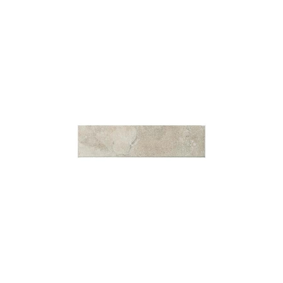 American Olean Pozzalo Sail White Ceramic Mud Cap Tile (Common: 2-in x 6-in; Actual: 2-in x 6-in)