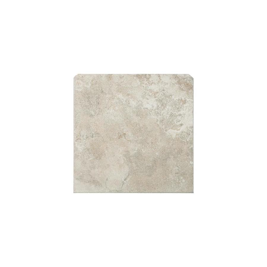 American Olean Pozzalo Sail White Ceramic Bullnose Corner Tile (Common: 6-in x 6-in; Actual: 6-in x 6-in)