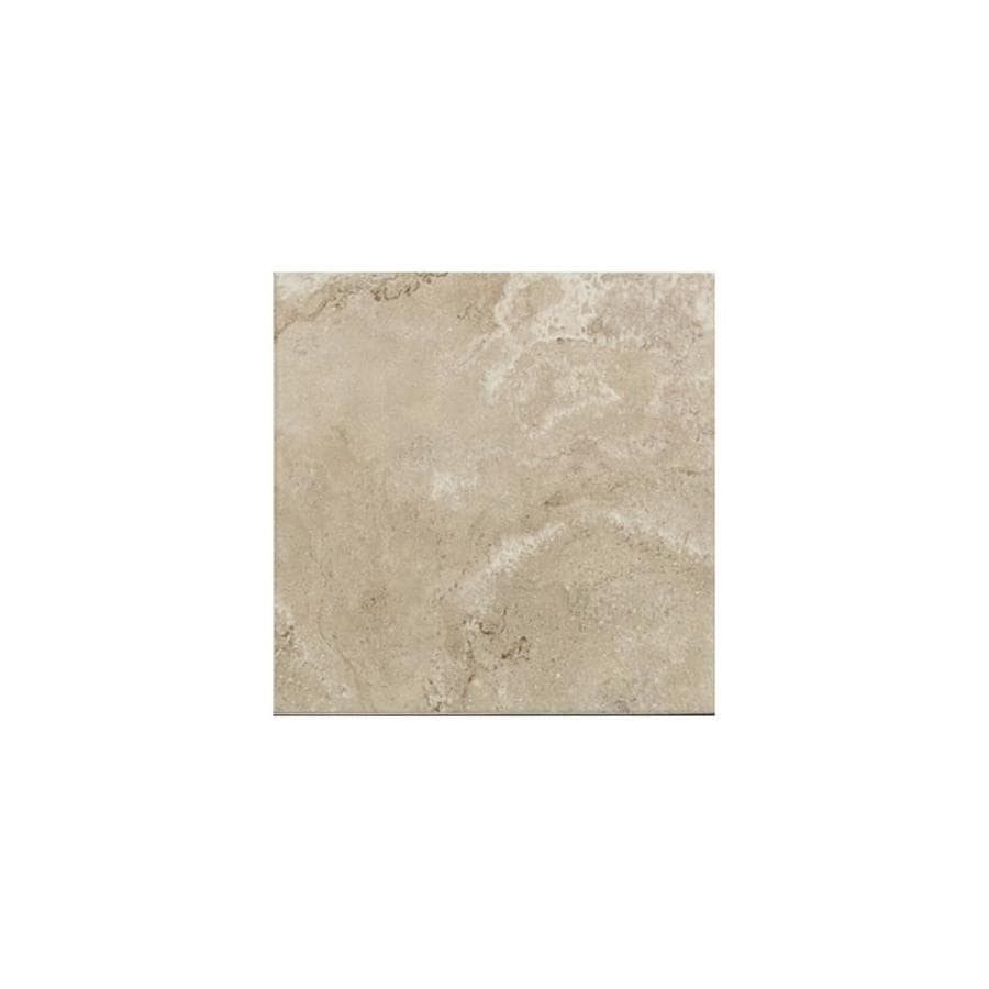 American Olean Pozzalo Coastal Beige Ceramic Bullnose Tile (Common: 6-in x 6-in; Actual: 6-in x 6-in)
