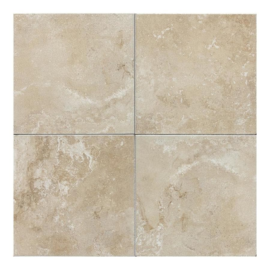 American Olean Pozzalo 11-Pack Manor Gray Ceramic Floor and Wall Tile (Common: 12-in x 12-in; Actual: 11.81-in x 11.81-in)